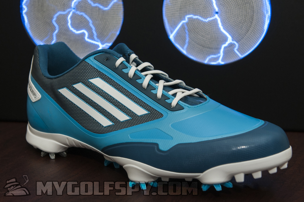 Adidas Men's Adizero One Running White/Electricity Golf Shoes