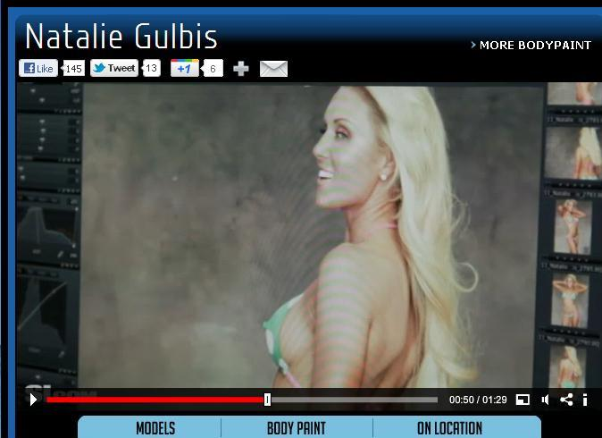 Lpga natalie gulbis body paint advise