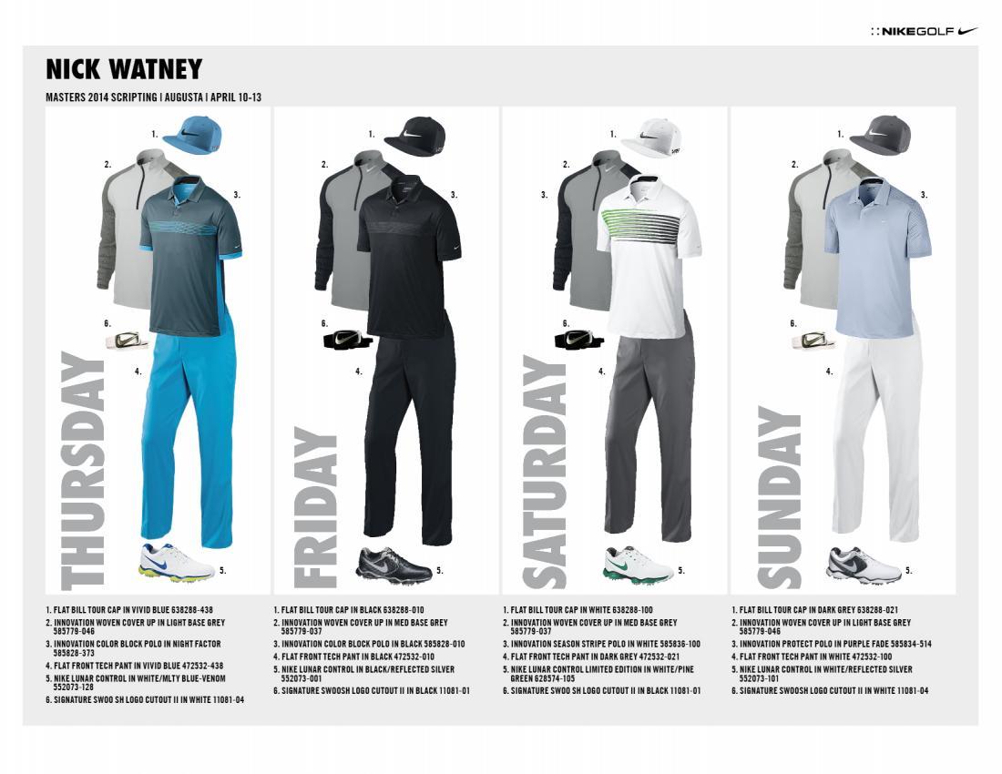 c01e9329 Nike Golf Master's Scripting - Golf Apparel (Fashion & Style ...