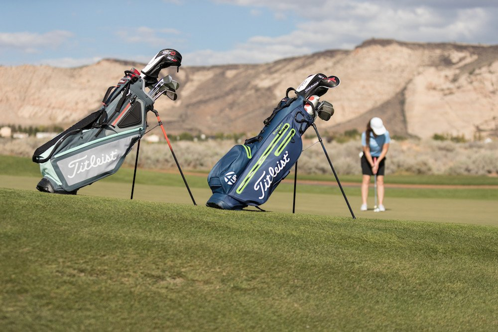 95901c4851 The Titleist Players Collection includes the Players 4, Players 5 and  Players 14 stand bag models, identified by organizational preference in 4-way,  ...