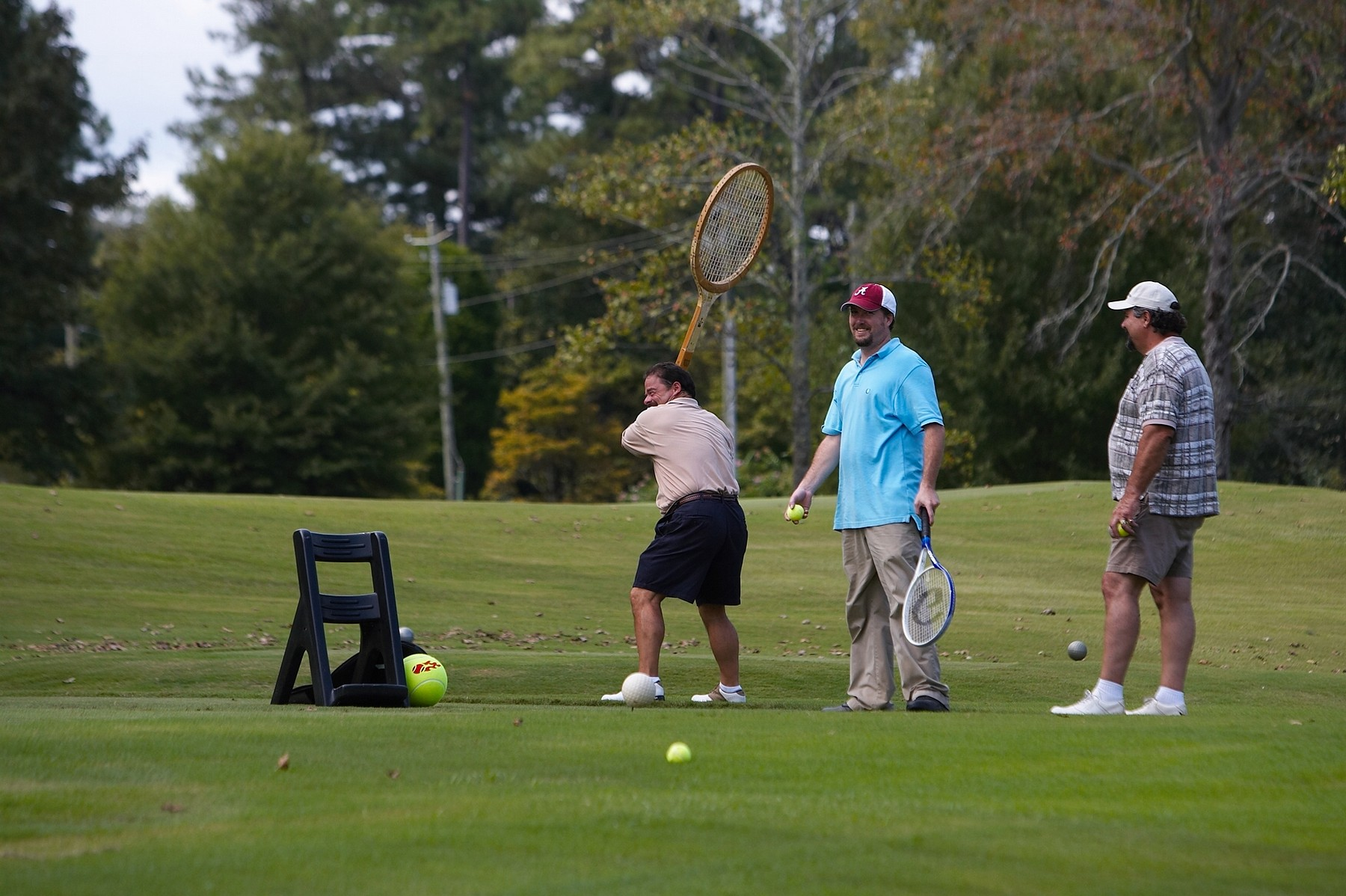 Tennis on a golf course.jpg