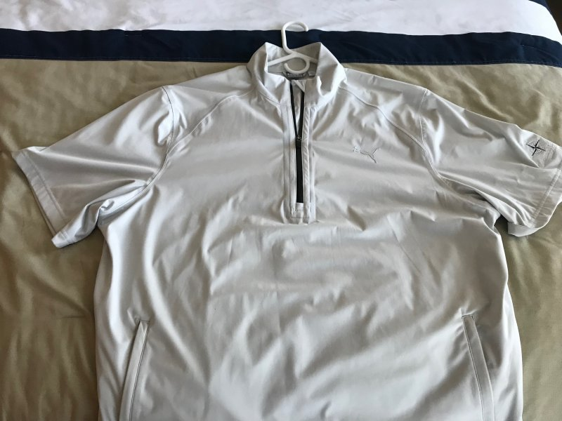 Puma Short Sleeve  Quarter Zip .JPG