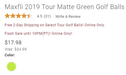maxfli tour matte green sale price.jpg