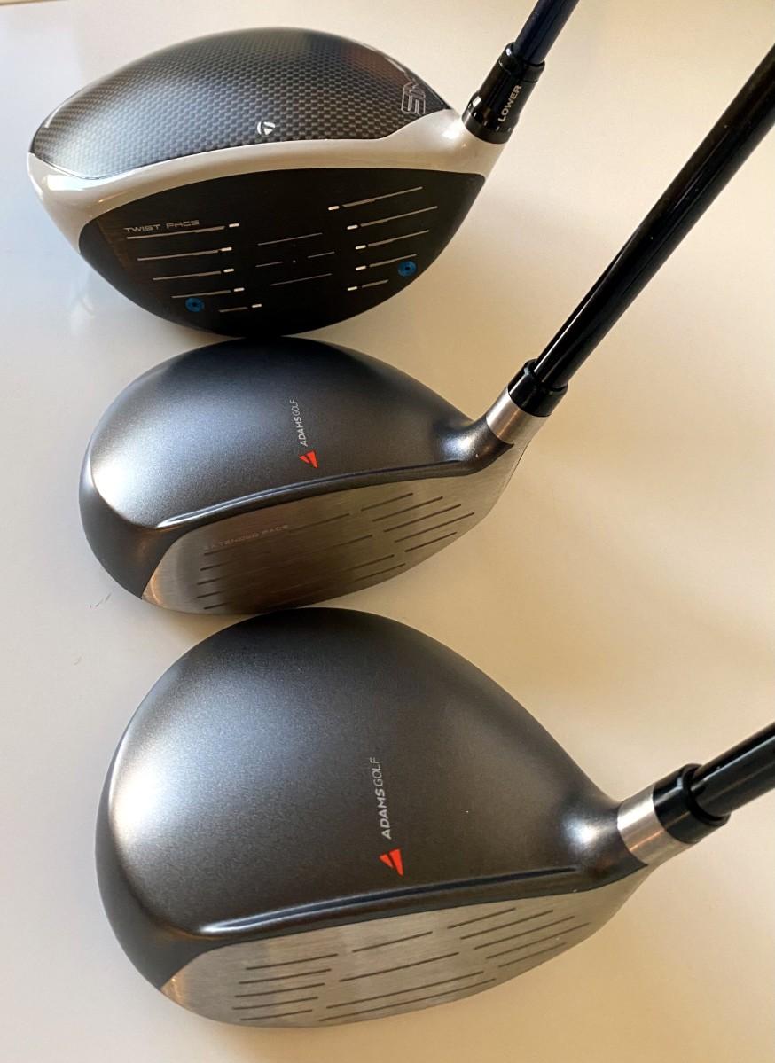 Golf clubs, Taylormade Sim Max Driver, Adams Tight Lies 3&5 woods,a.jpg